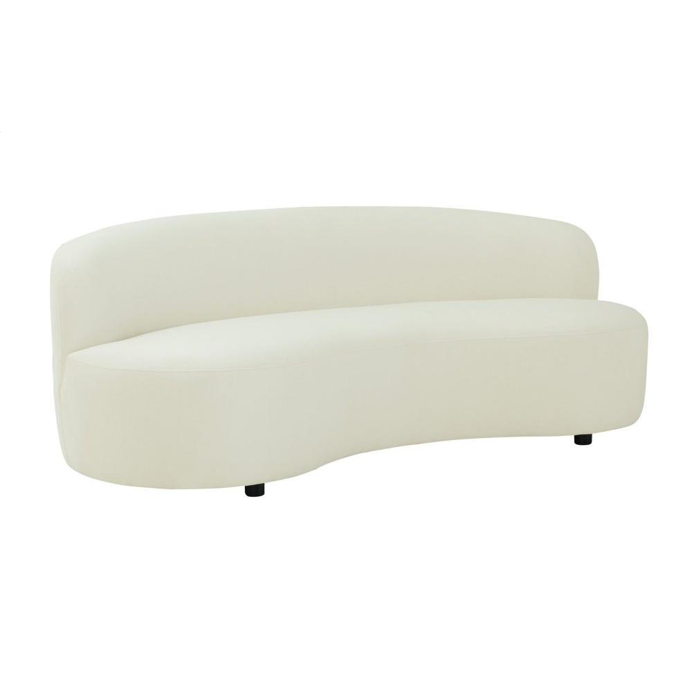 Cannellini Cream Velvet Sofa