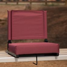 See Details - Grandstand Comfort Seats by Flash - 500 lb. Rated Lightweight Stadium Chair with Handle & Ultra-Padded Seat, Maroon