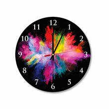 Color Splash Round Square Acrylic Wall Clock