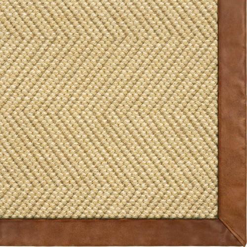 Karastan - Wool Sisal Berber Natural 12'x15' / Canvas Border