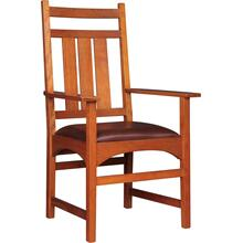 Oak Harvey Ellis Arm Chair, No Inlay