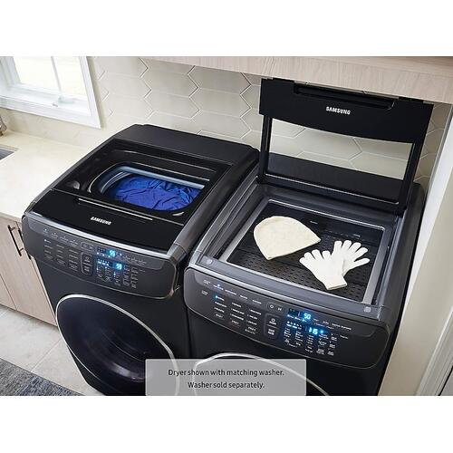 7.5 cu. ft. Smart Gas Dryer with FlexDry™ in Black Stainless Steel