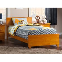 View Product - Orlando Twin XL Bed with Matching Foot Board in Caramel Latte
