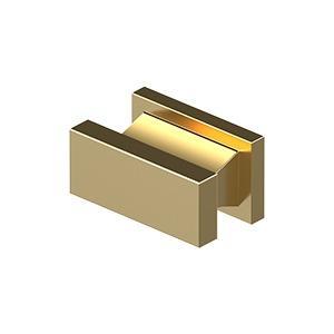"Deltana - Contemporary Knob, Anvil, 3/4"" x 1-1/2"" x 7/8"" - PVD Polished Brass"