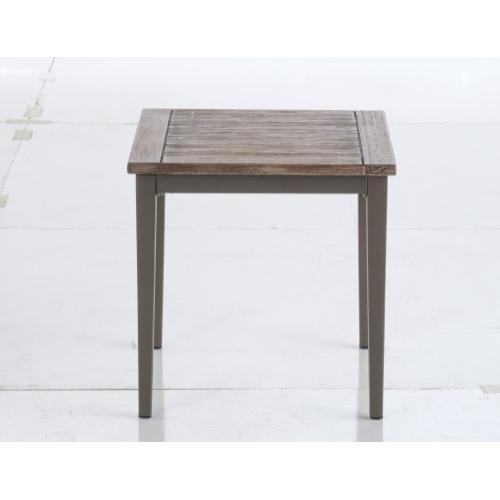"Brisbane 20"" Square Aluminum Side Table"
