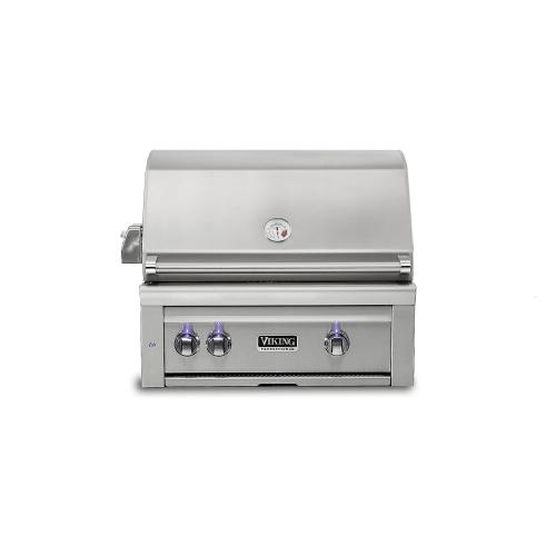 "30""W. Built-in Grill w ProSear Burner and Rotisserie - VQGI5301 Viking 5 Series"