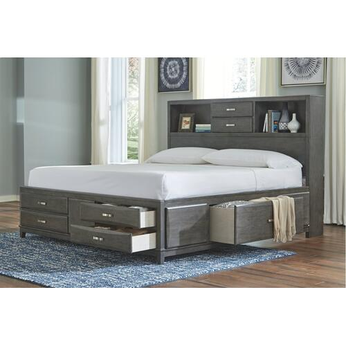 Caitbrook California King Storage Bed With 8 Drawers