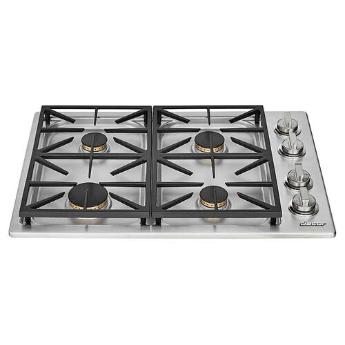 "30"" Dual Gas Cooktop, Natural Gas/High Altitude"