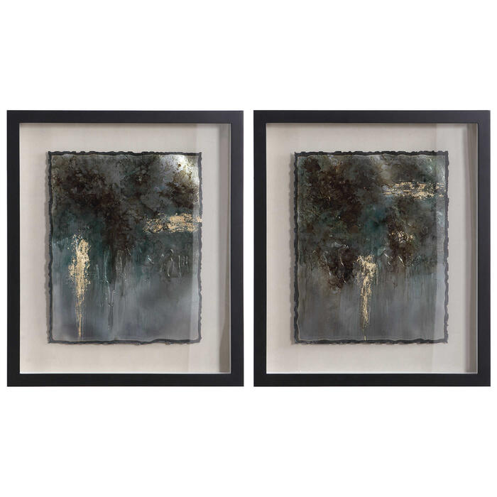 Uttermost - Rustic Patina Framed Prints, S/2