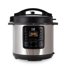 Kalorik 6 Quart 10-in-1 Multi Use Pressure Cooker, Stainless Steel