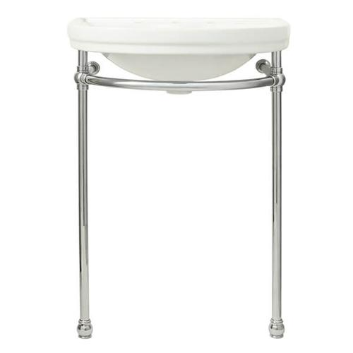 Dxv - St. George Console Sink - Canvas White / Polished Chrome