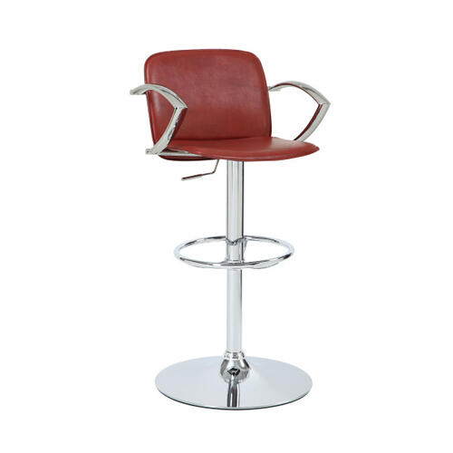 Davenport Red Gas Lift Stool