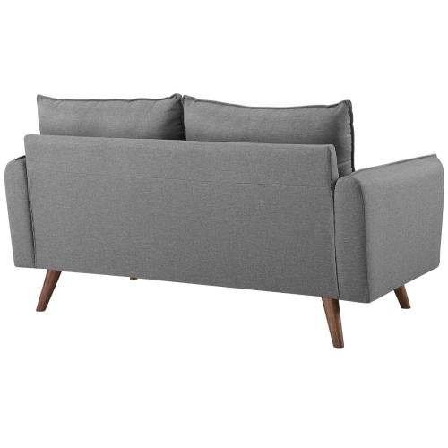 Modway - Revive Upholstered Fabric Loveseat in Light Gray