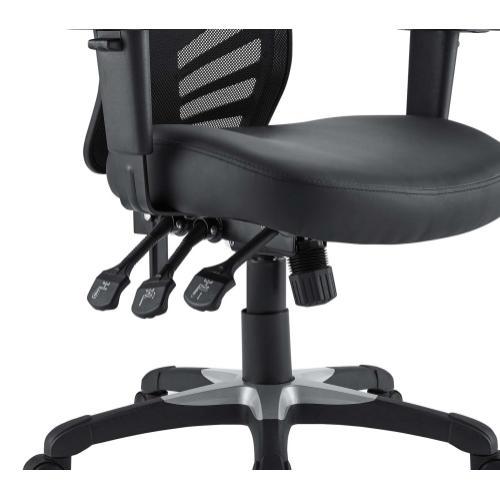 Articulate Vinyl Office Chair in Black
