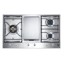 36 3-Burner Segmented Cooktop, Griddle