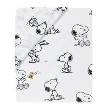 Classic Snoopy White/Black/Gray 3-Piece Baby Crib Bedding Set