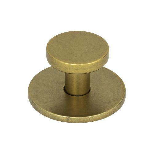 Dot Knob 1 1/4 Inch - Vintage Brass