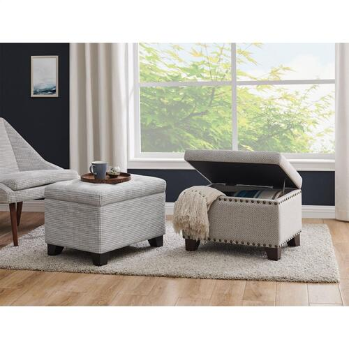 Product Image - Julian Rectangular Fabric Storage Ottoman, Squarespace Gray