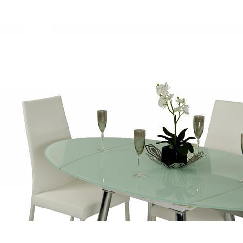 Modrest Brunch Modern White Extendable Dining Table