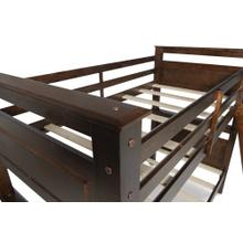 Twin Over Twin Bunk Bed, Espresso