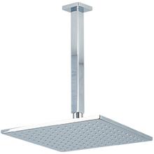 "10"" Shower Rainhead Ceiling Mount 9.5"" Arm SQU Chrome"