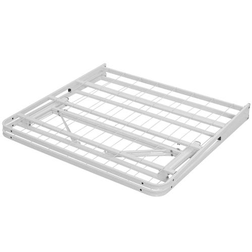 Horizon Twin Stainless Steel Bed Frame in White