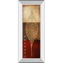 """Fossil Leaves Il"" By Patricia Pinto Mirror Framed Print Wall Art"