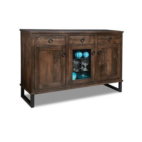 - Cumberland Sideboard w/2 Wood Doors &1/Center Glass Door &3/Dwrs & 2/Wood & Glass Adjust.