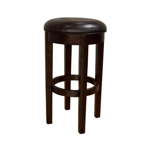 30 Seat Height Swivel Stool-Brown