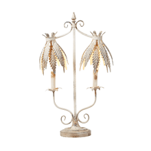 Double Laurel Leaf Shade Table Lamp. 25W Max.