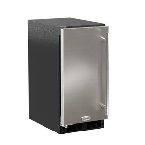 Marvel15-In Low Profile Built-In Clear Ice Machine With Arctic White Illuminice with Door Style - Stainless Steel, Door Swing - Left, Pump - Yes