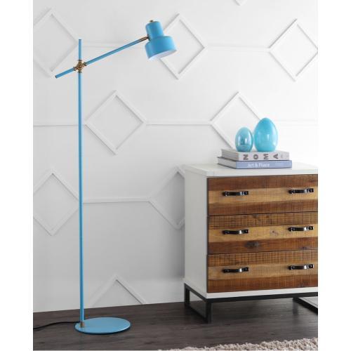 Product Image - Jaden Floor Lamp - Blue / Brass Gold