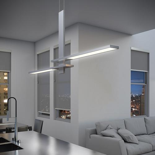 Sonneman - A Way of Light - Planes LED Pendant [Color/Finish=Satin Black, Shape=Cantilevered]
