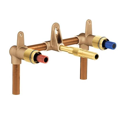 """Moen wallmount valve 8"""" center 1/2"""" cc connection"""