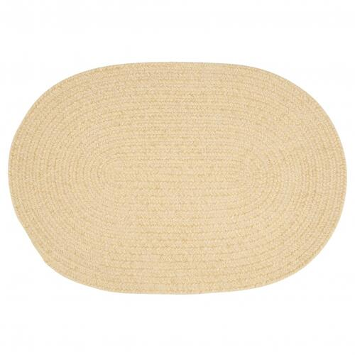 Barefoot Chenille Bath Rugs Rug BF09 Soft Yellow 2' X 3'