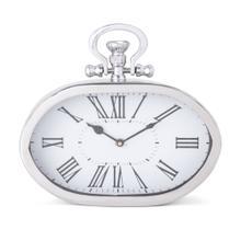 Alita Silver Desk Clock