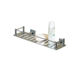 Essentials Rectangular Shower Shelf, Braga Backplate