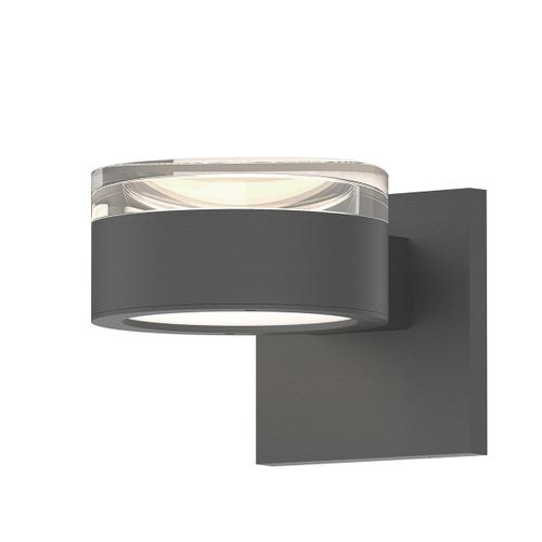 Sonneman - A Way of Light - REALS® Up/Down LED Sconce [Color/Finish=Textured Gray, Lens Type=Clear Cylinder Lens and Plate Lens]