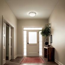 "View Product - Avon 32.5"" LED Oval Flush Mount Olde Bronze®"