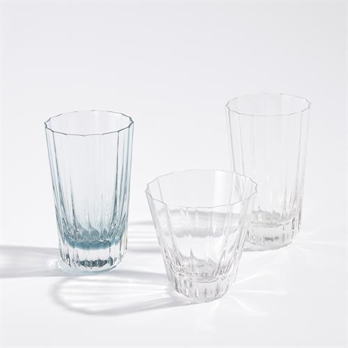 Fluted Glass-Highball-Clear