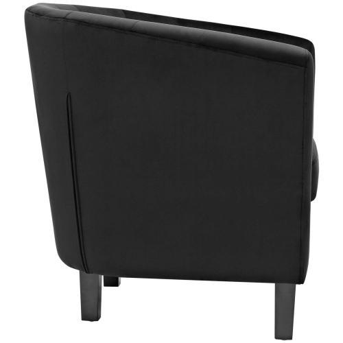 Modway - Prospect 2 Piece Performance Velvet Loveseat and Armchair Set in Black