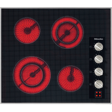 Electric cooktop with four cooking zones and direct rotary dial controls for maximum convenience.