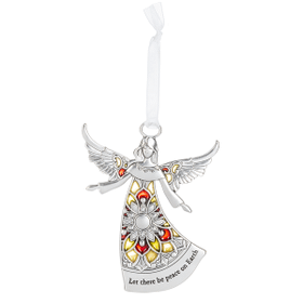 Angel Ornament - Let there be peace on Earth
