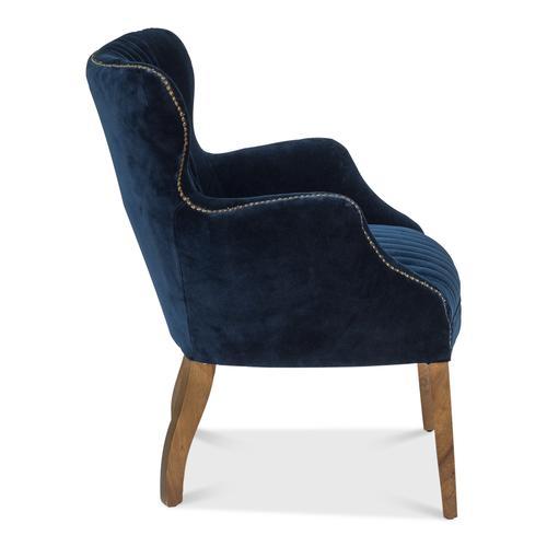 Dieter Petite Wing Chair, Blue Velvet