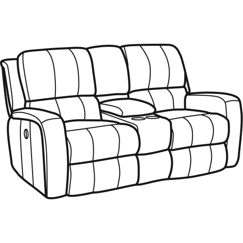 Product Image - Hammond Fabric Power Reclining Loveseat with Console