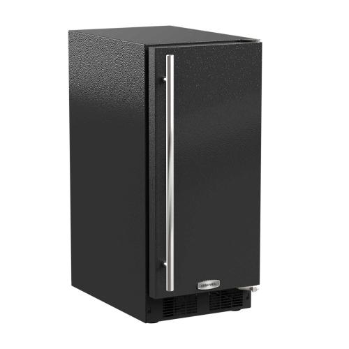 15-In Built-In Clear Ice Machine With Arctic White Illuminice with Door Style - Black, Door Swing - Right, Pump - Yes