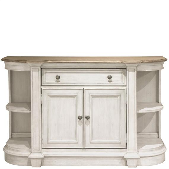 Riverside - Southport - Sideboard - Smokey White/antique Oak Finish