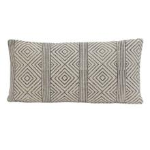 6816212 - Pillow 60x30 cm DAMILI black-white rhombus print striped