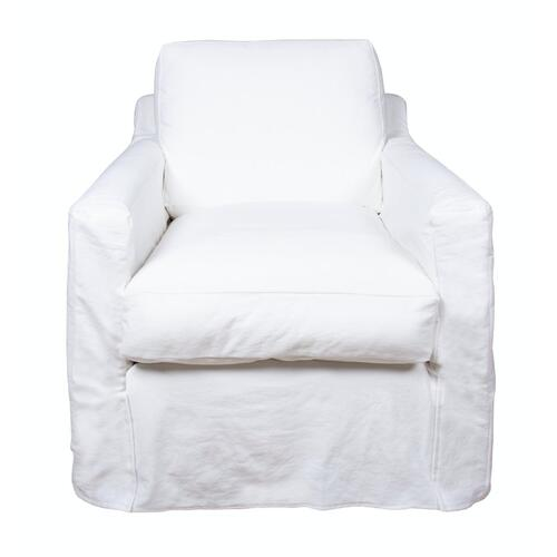Track Arm Slipcover Chair, Luxury Depth.