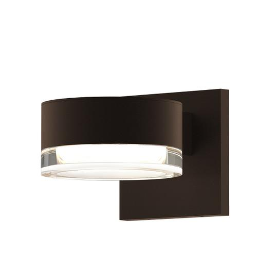 Sonneman - A Way of Light - REALS® Downlight LED Sconce [Color/Finish=Textured Bronze, Lens Type=Plate Cap and Clear Cylinder Lens]